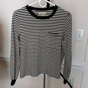 Madewell Long Sleeve Strip Size Small